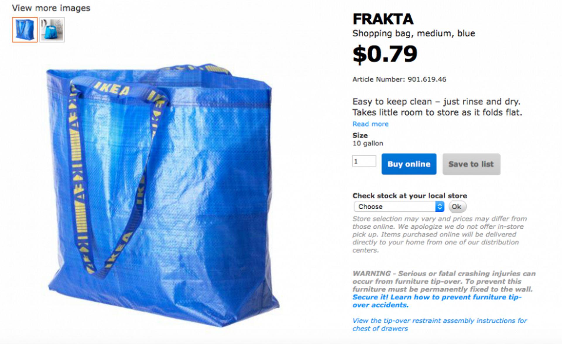 Frakta medium bag