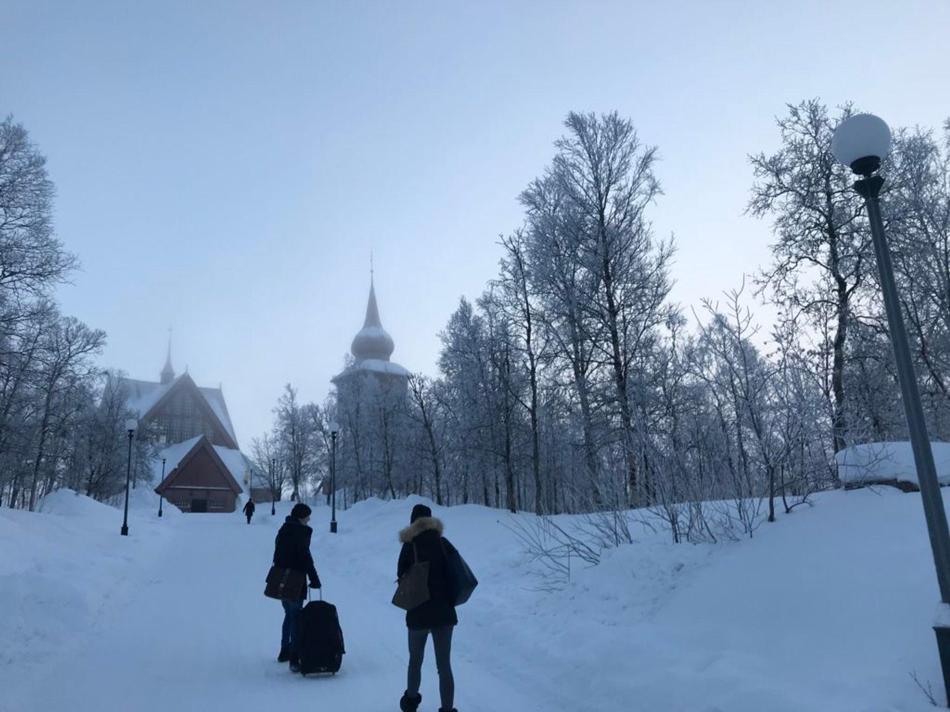 Exploring Kiruna city before heading to the camp, Source: Inez