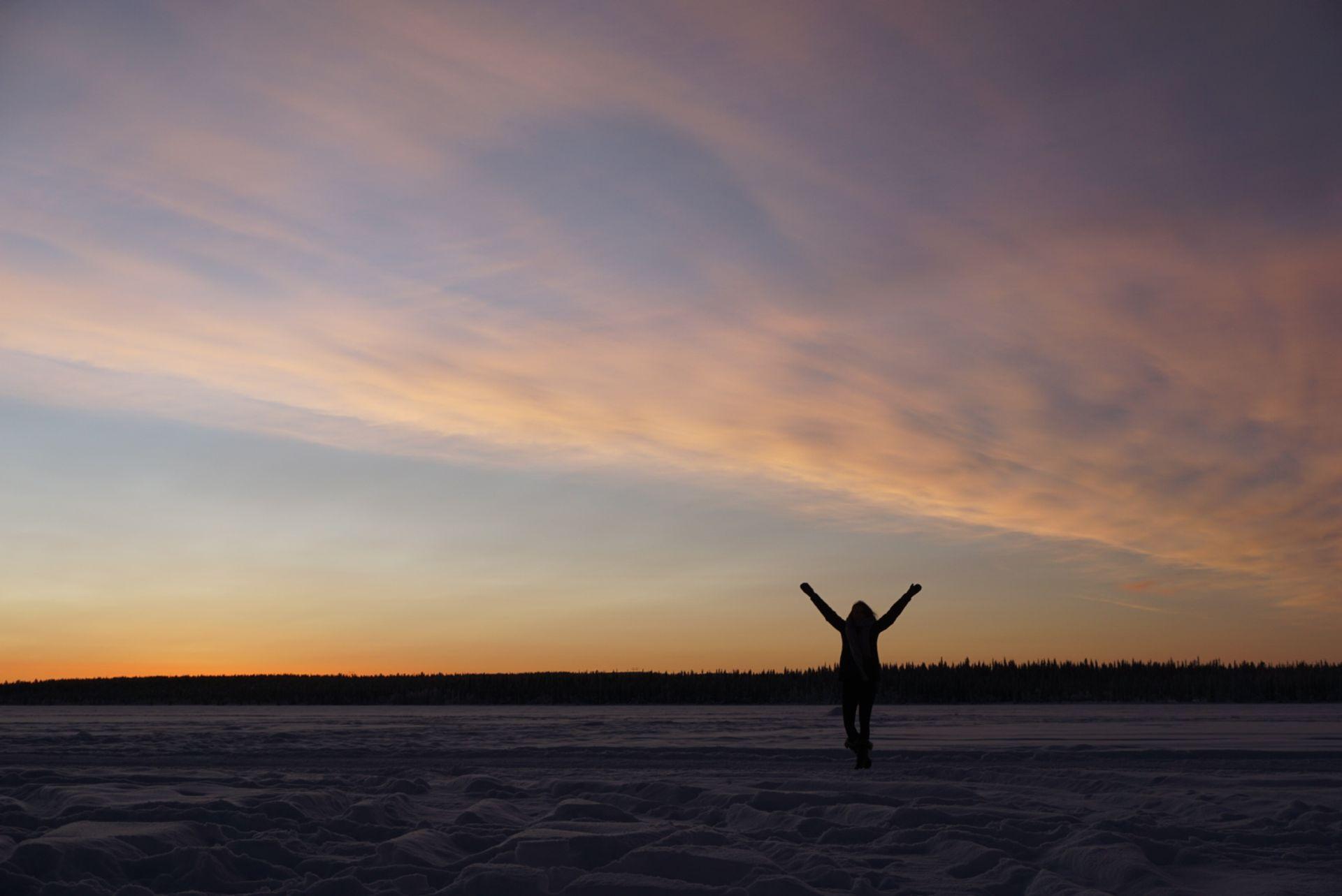 Sunrise in Kiruna, Source: Inez
