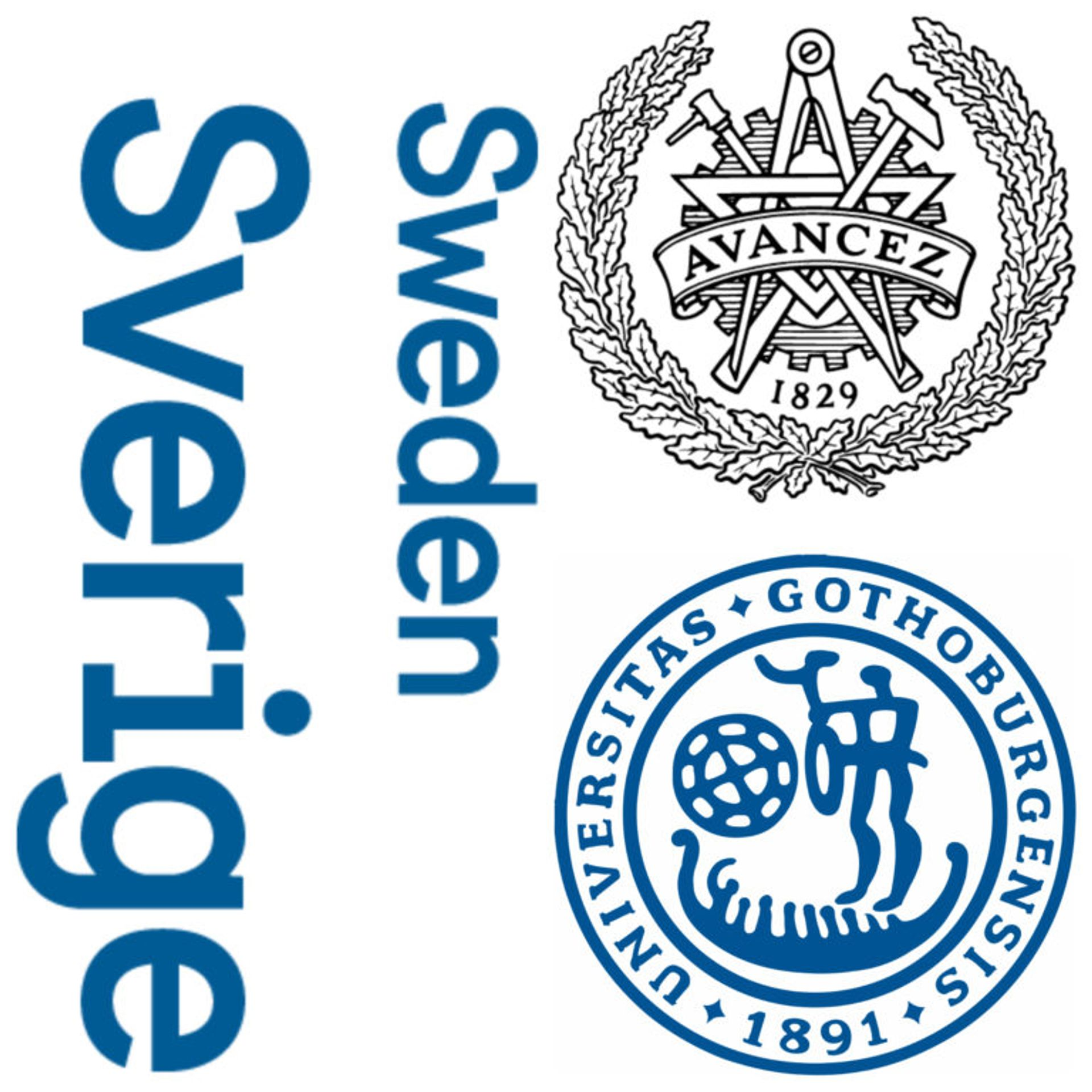 Logos of Sweden, Chalmers University of Technology and the University of Gothenburg.