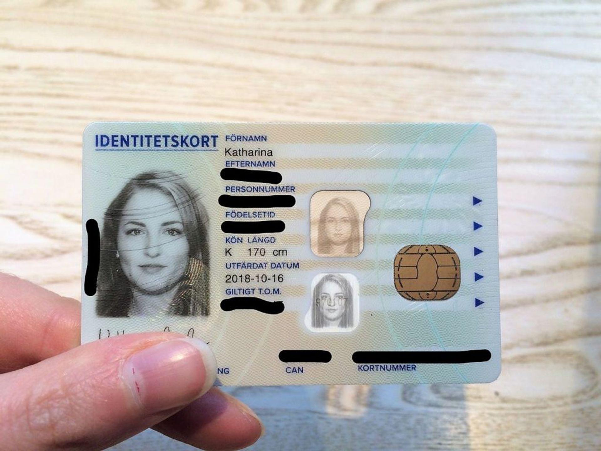 A Swedish ID card.