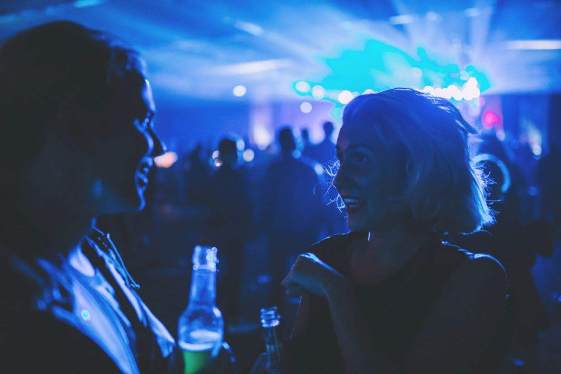 People at a nightclub.