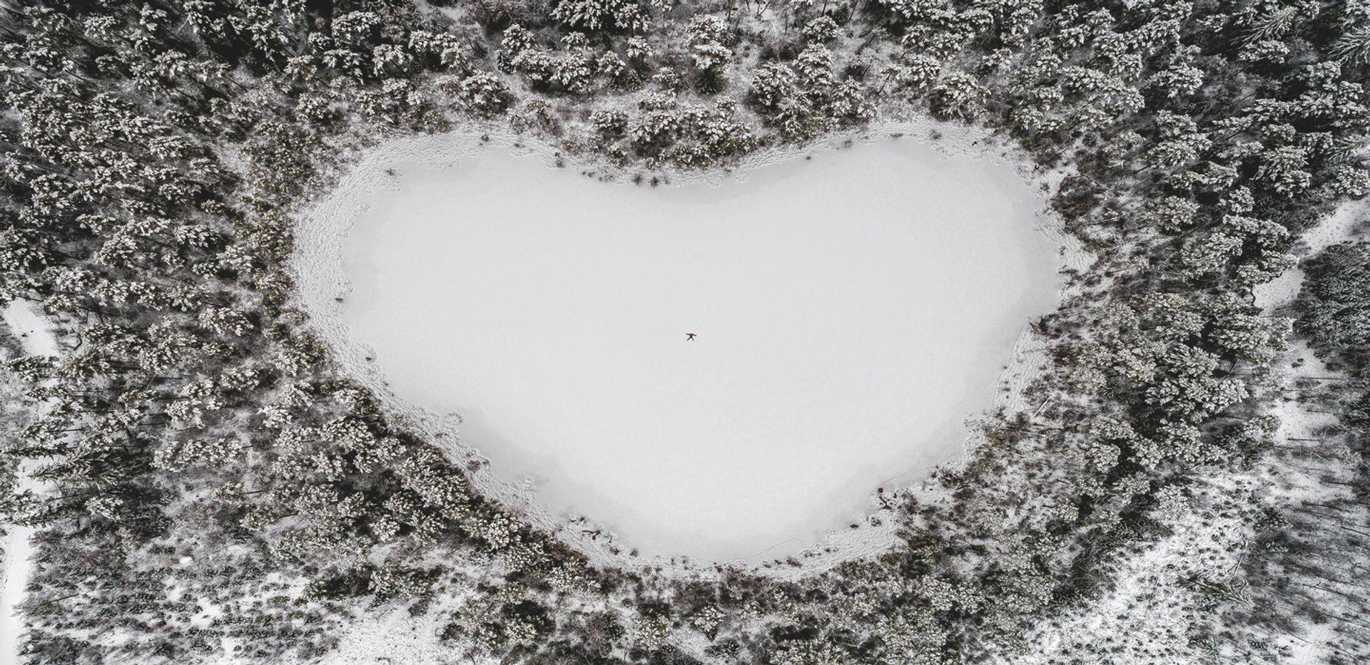 Heart-shaped lake.
