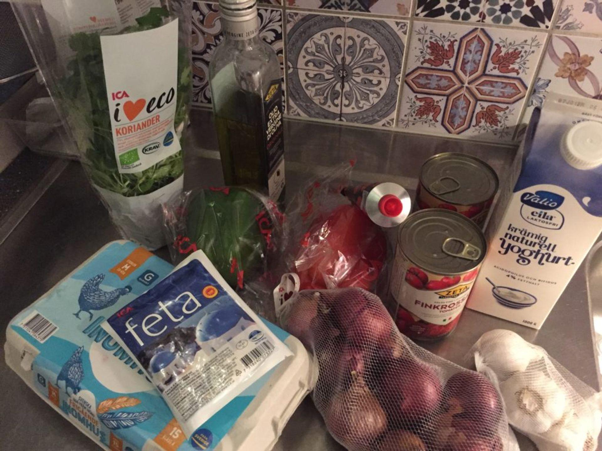 Ingredients for shakshuka