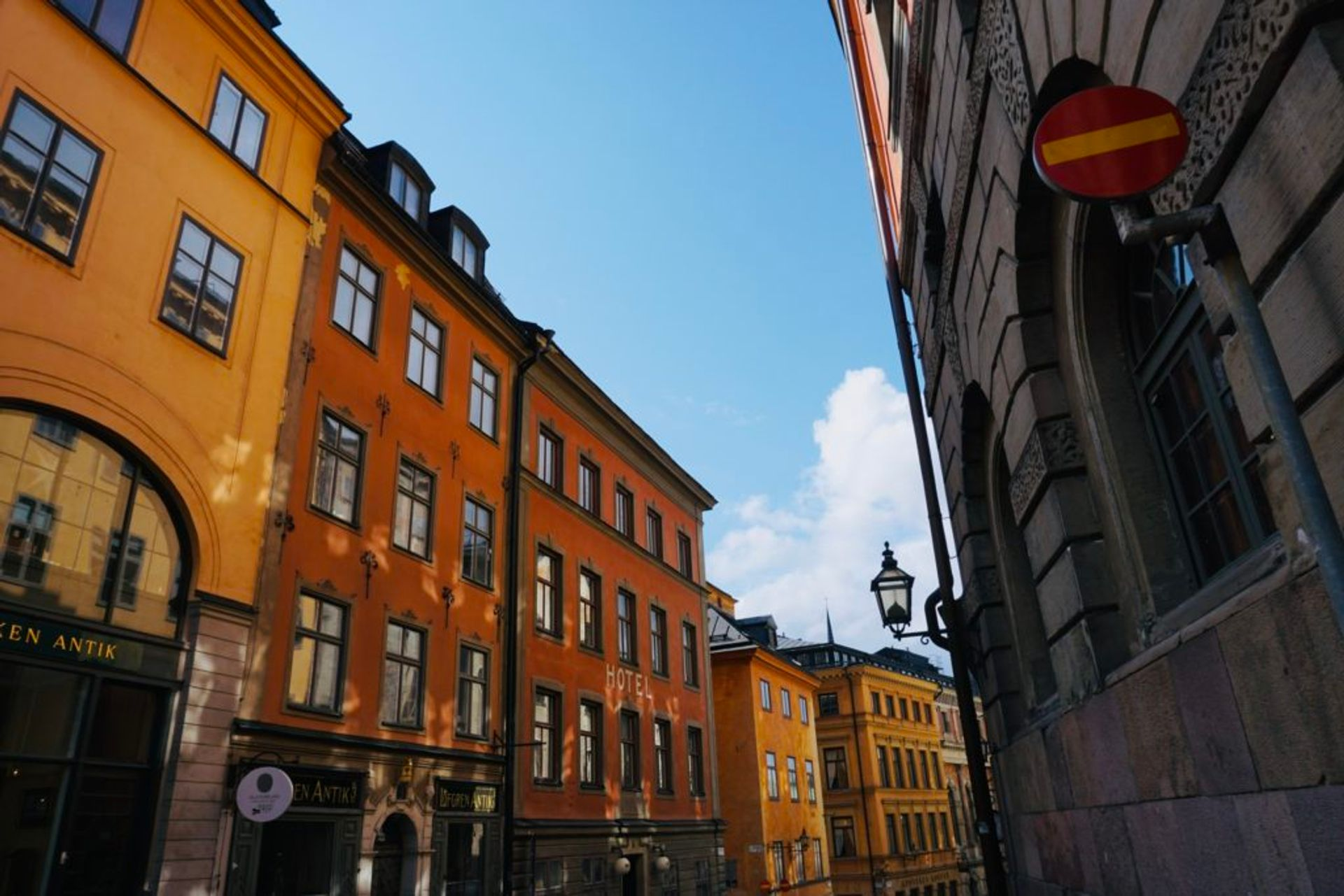 Colourful building in Stockholm's Old Town.