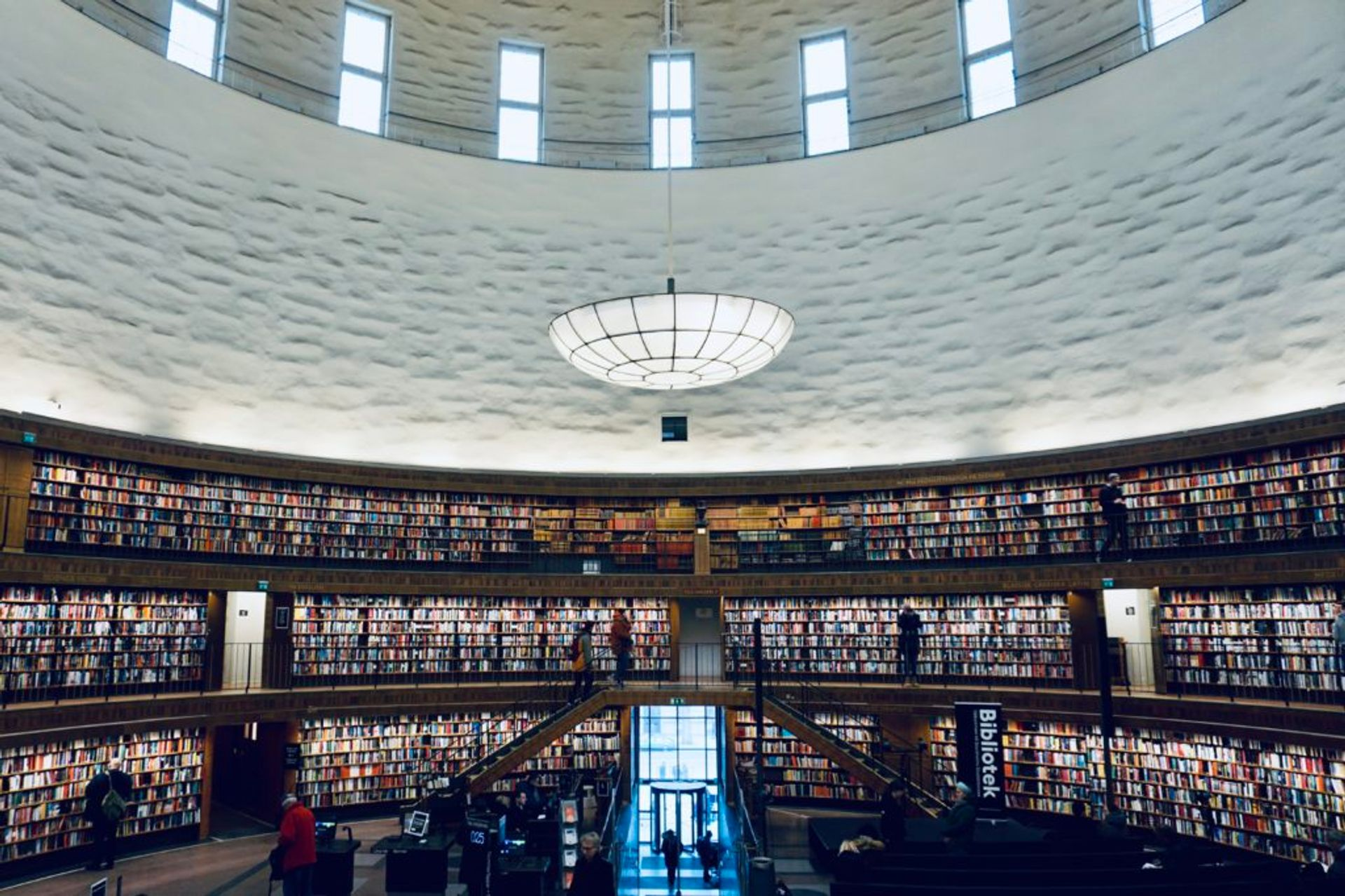 Interior of Stockholm's public library.