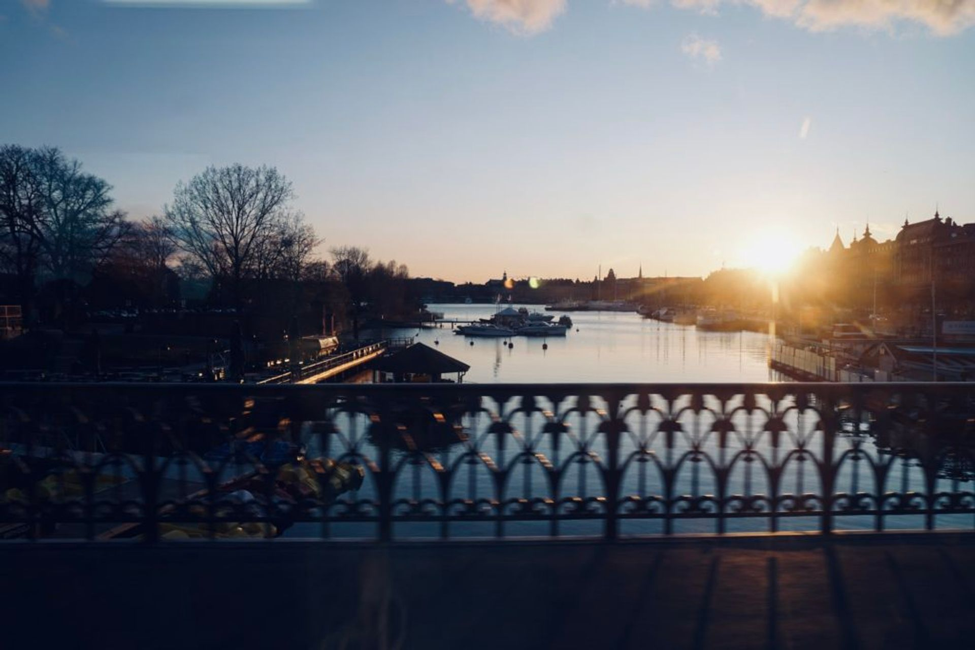 A sunset over Stockholm.