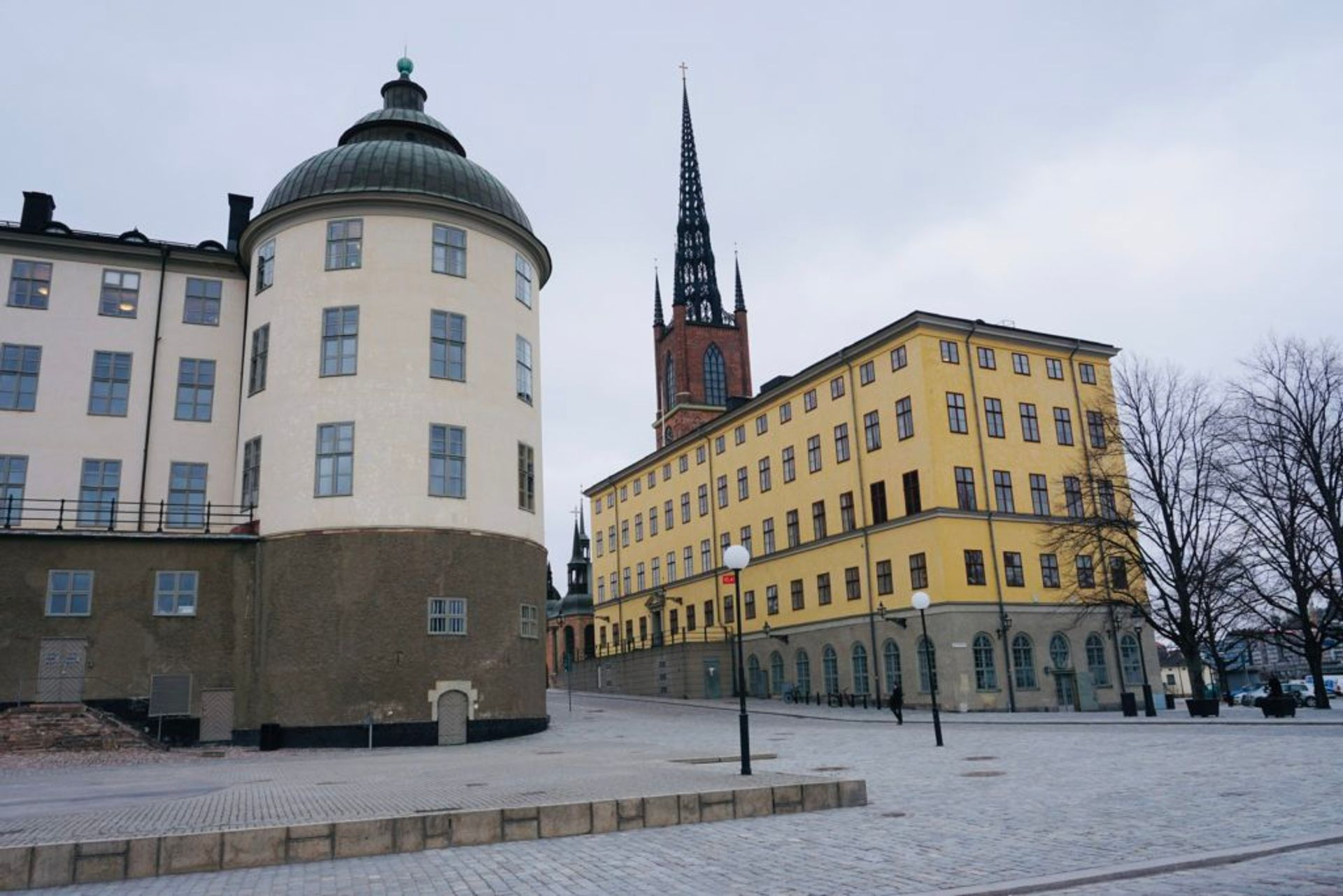 Old, colourful buildings in Stockholm.