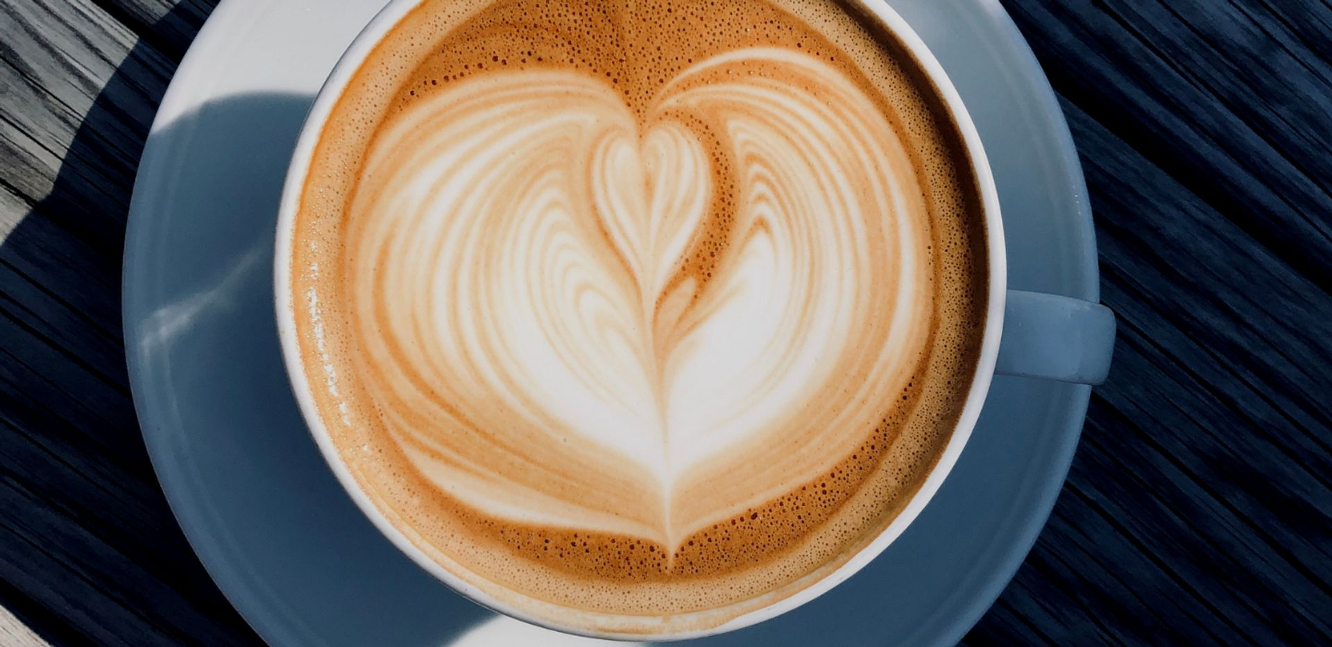Close-up of a cup of latte.