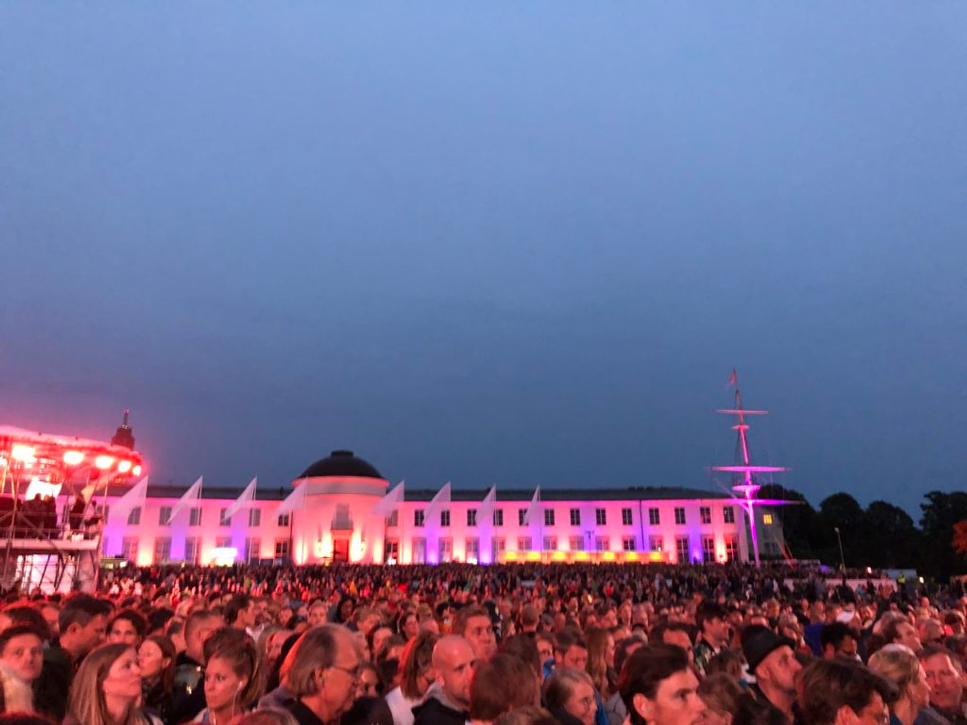 A large crowd at the Robyn concert.