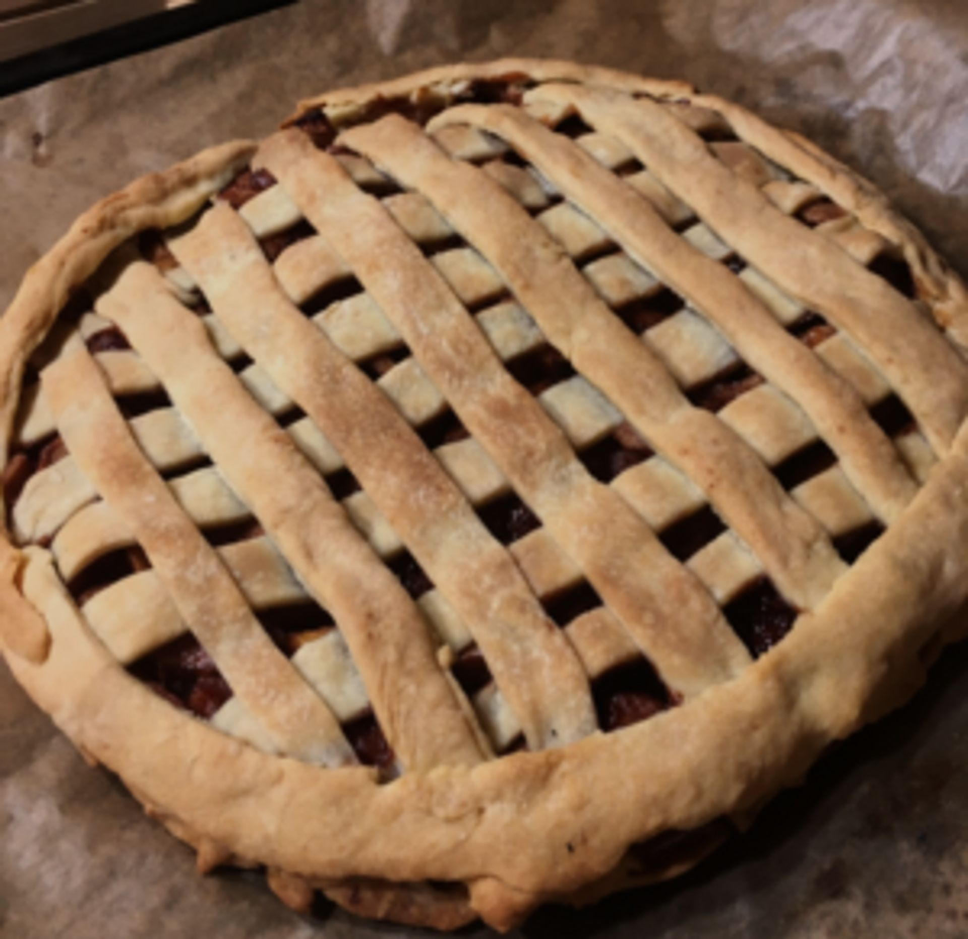 Close-up of a pie.