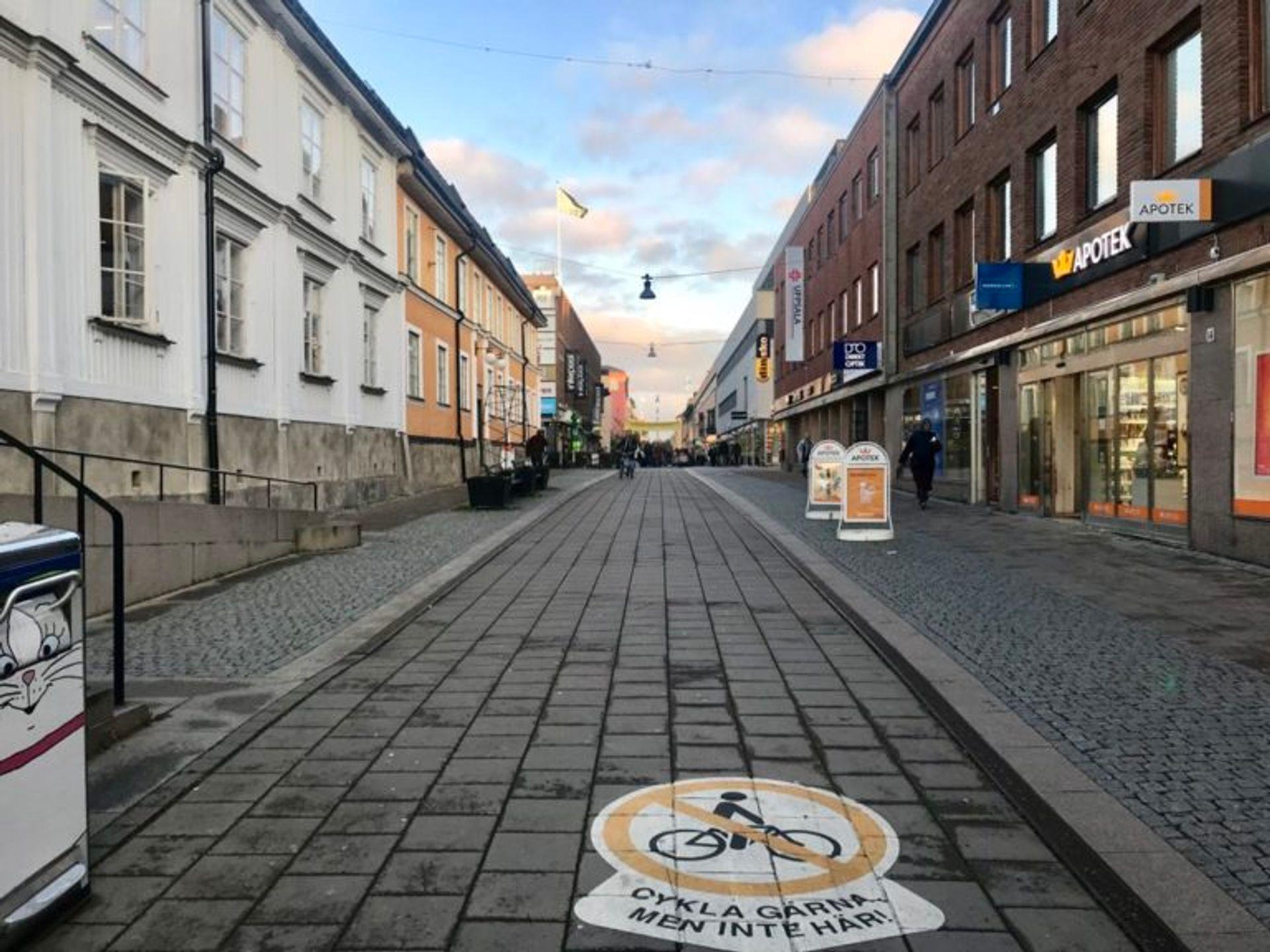 A pedestrian only street.