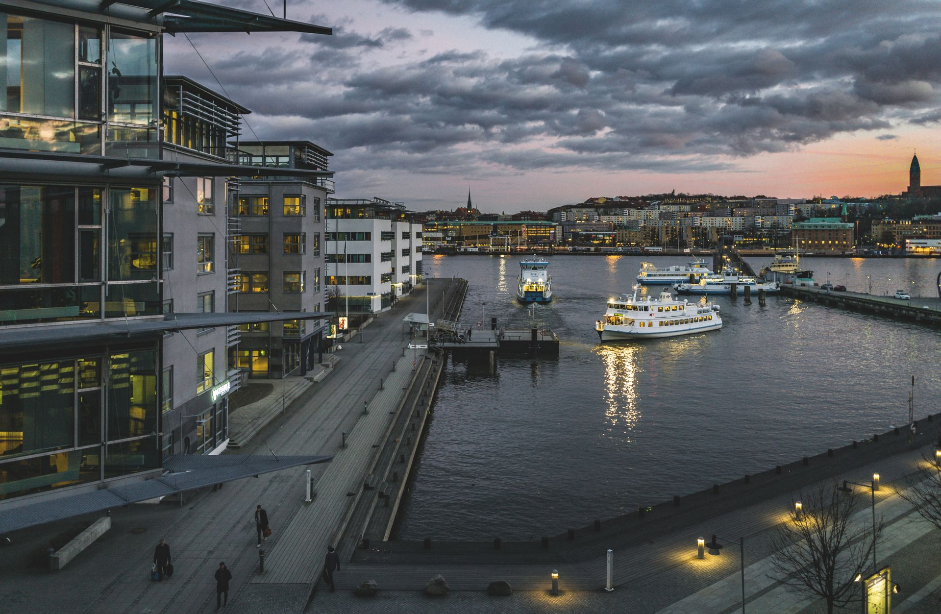 Gothenburg at night.