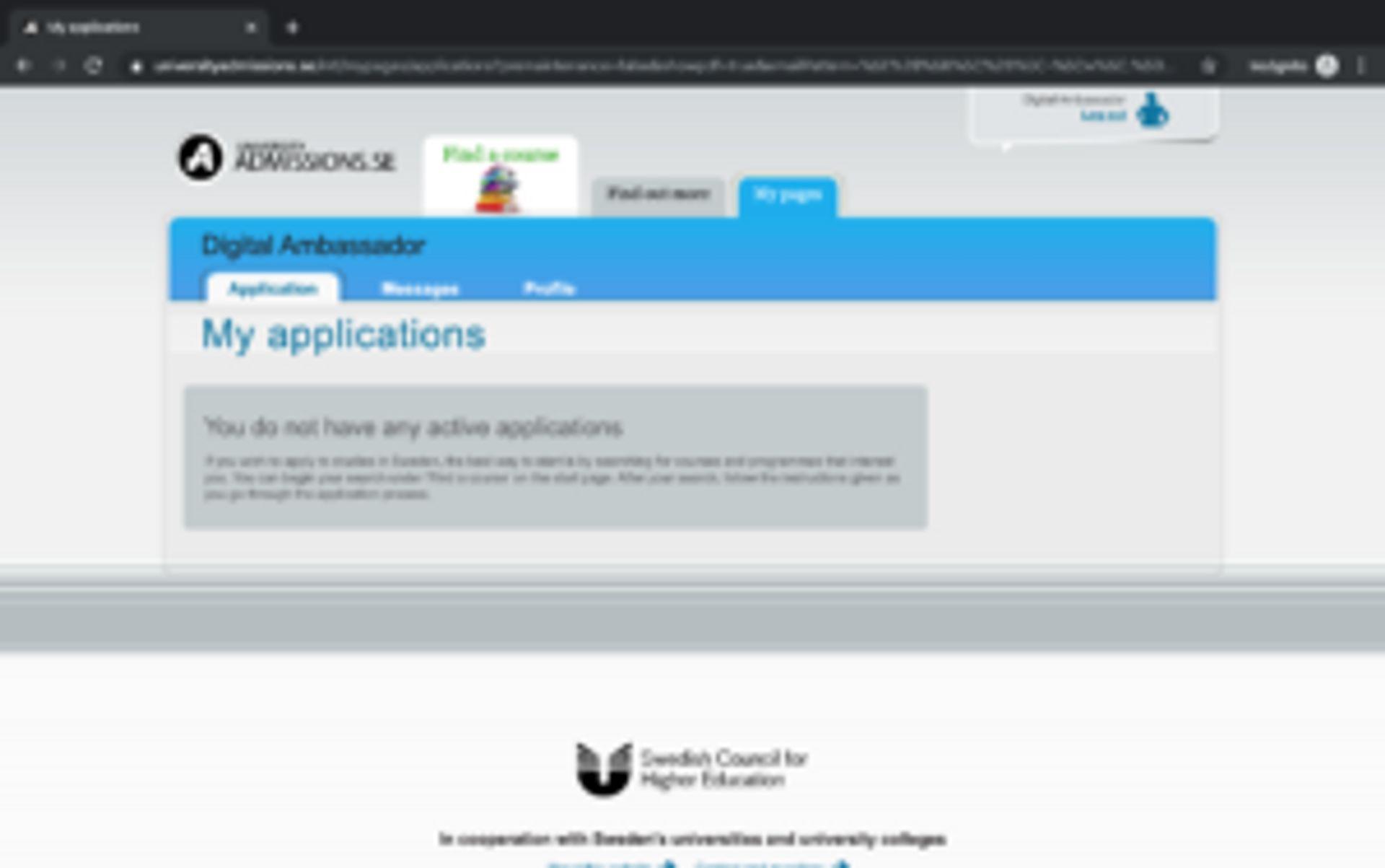 Screenshot of confirmation webpage.