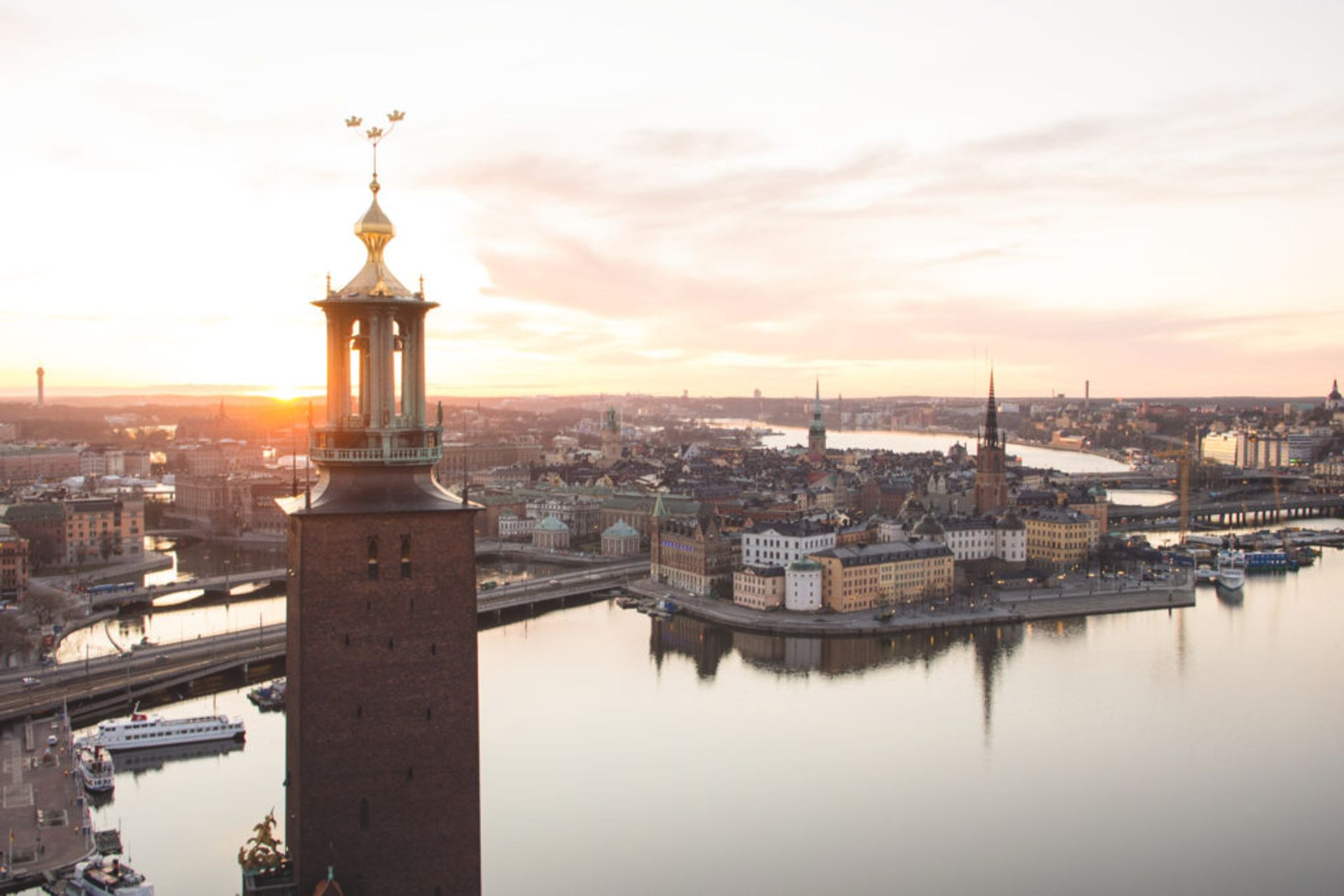 Stockholm's Old Town from above.