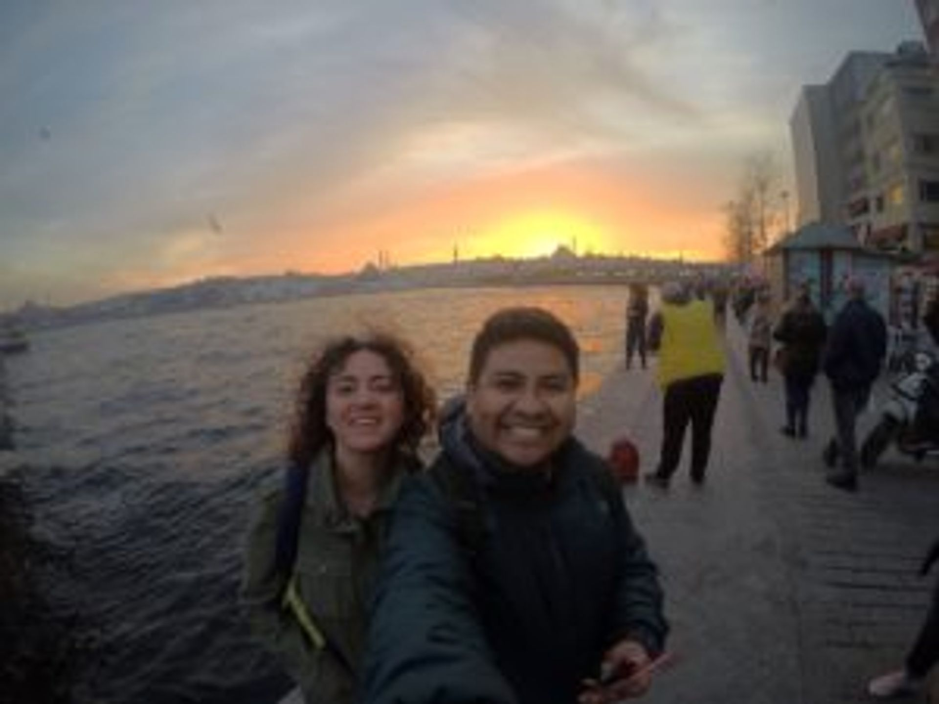 Camilo and a friend in Istanbul.