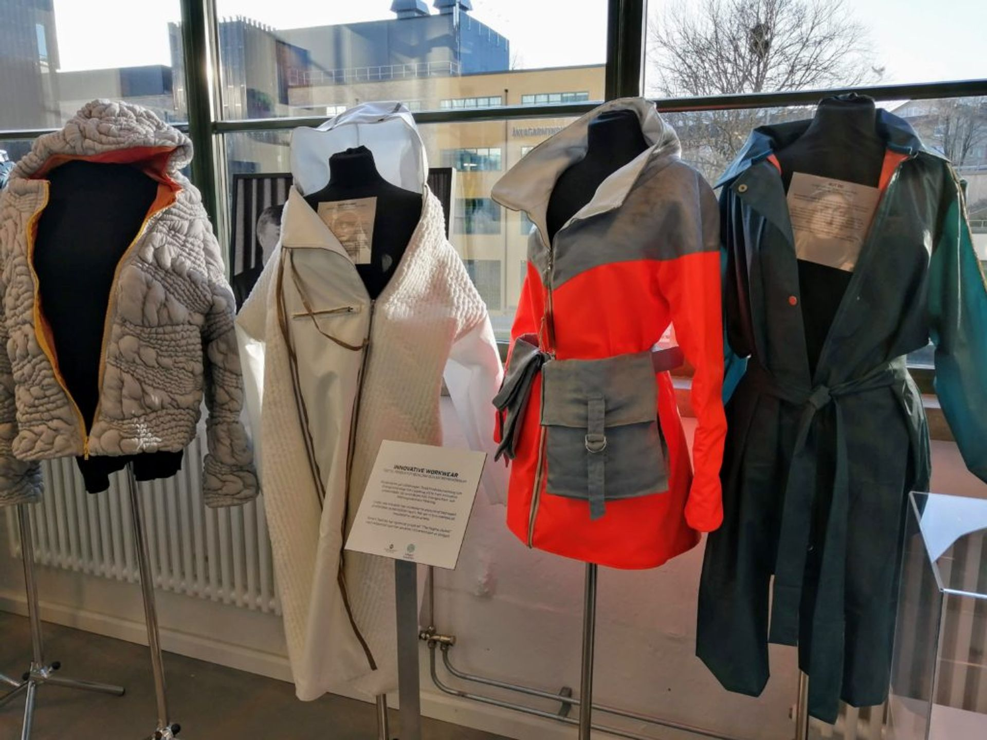 Jackets made out of different materials.
