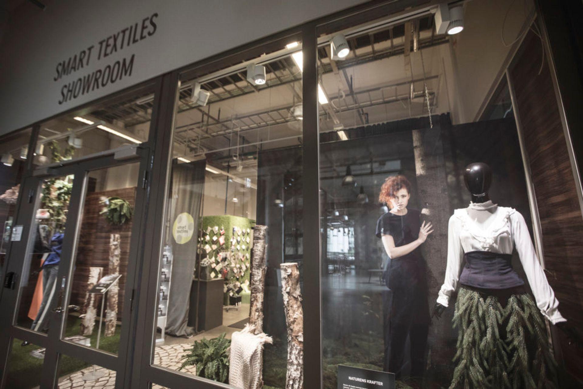 The Smart Textiles showroom display.