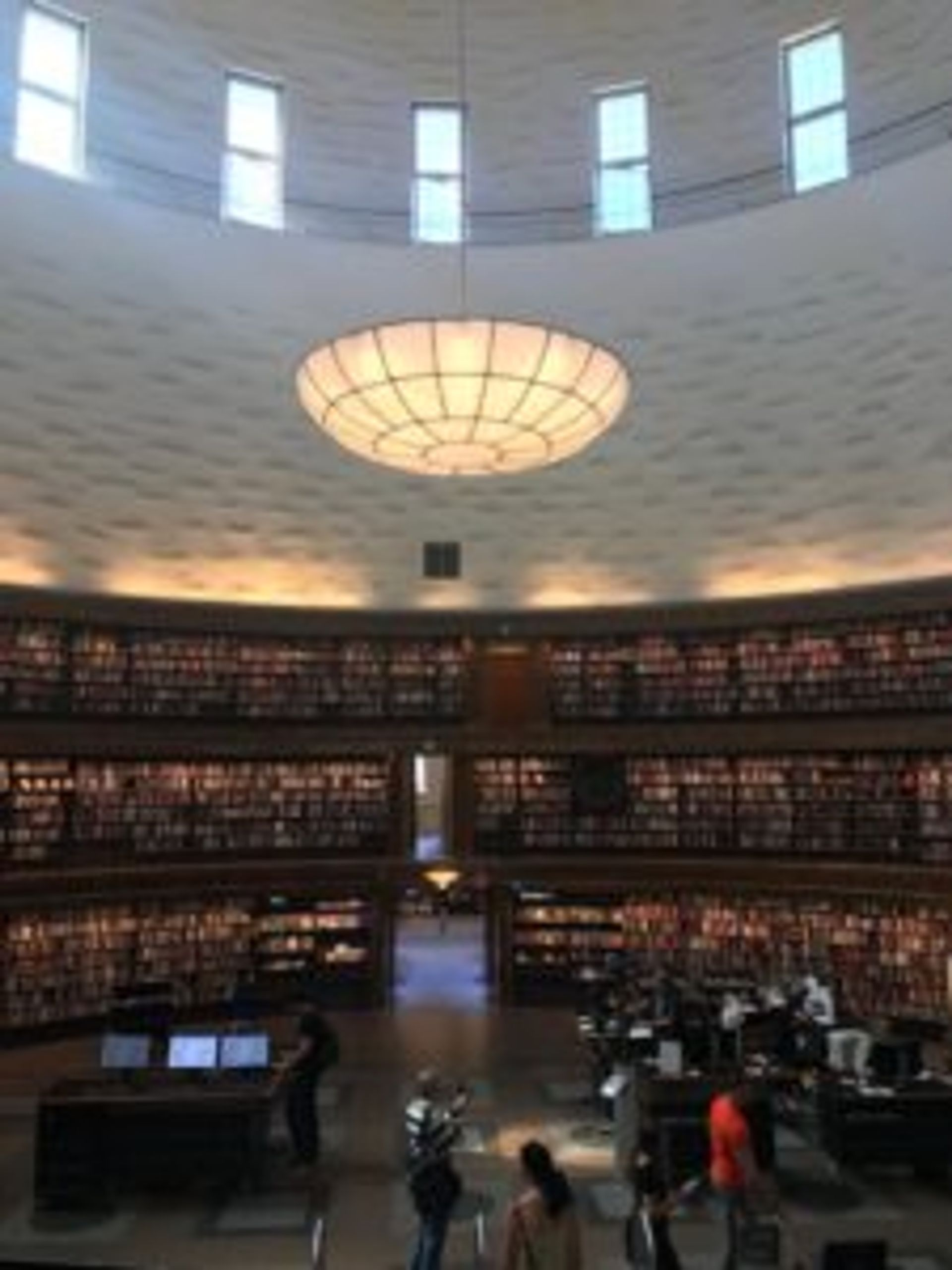 Thousands of books in Stockholm's City Library.