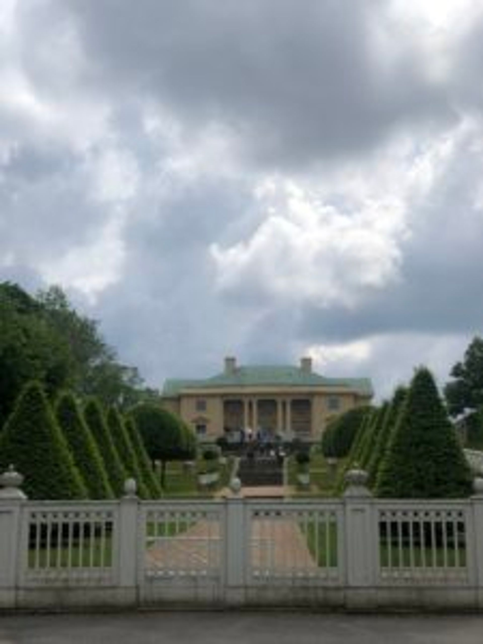 Gunnebo House and gardens from a distance.