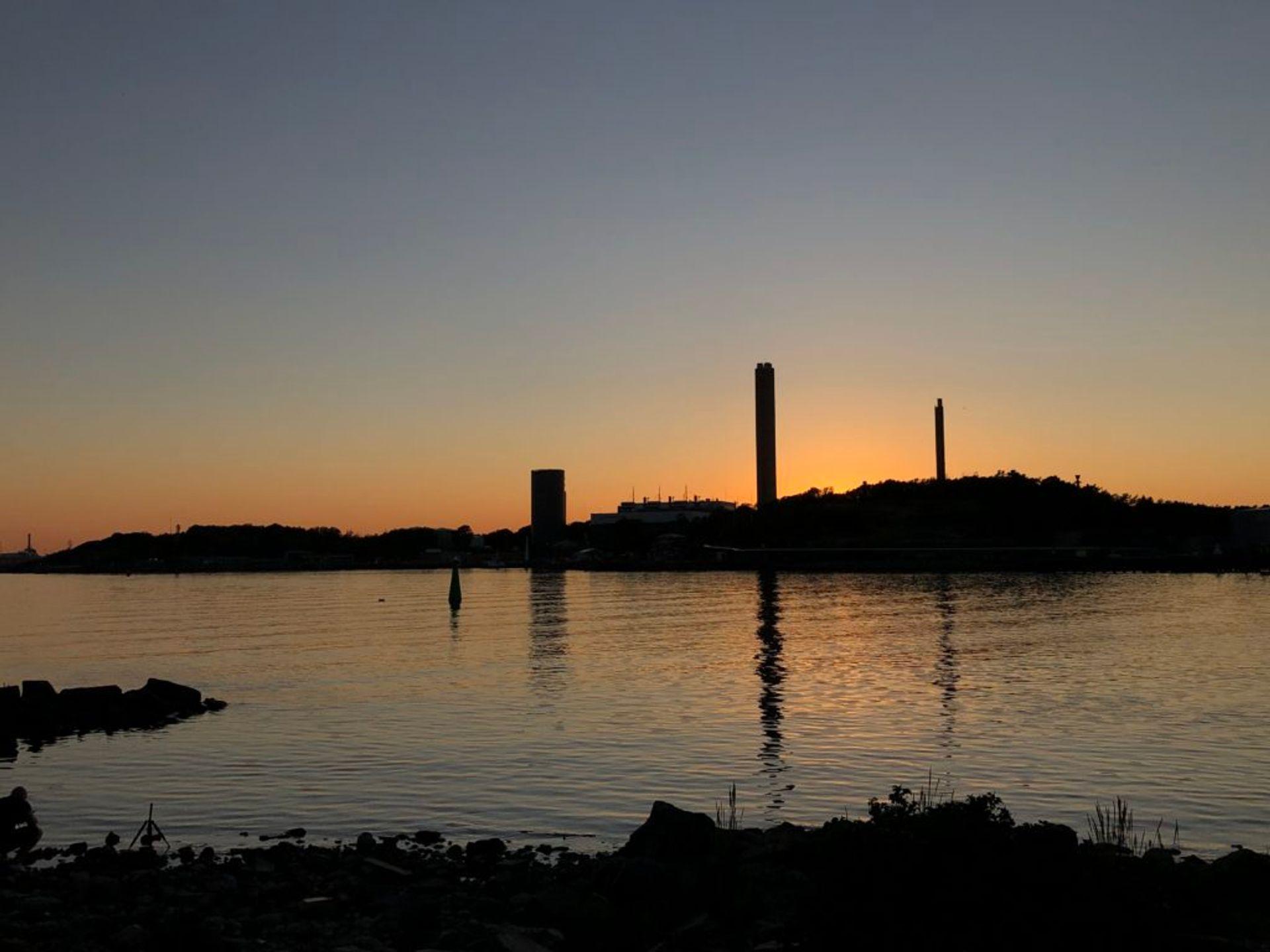 Orange sunset in Gothenburg.