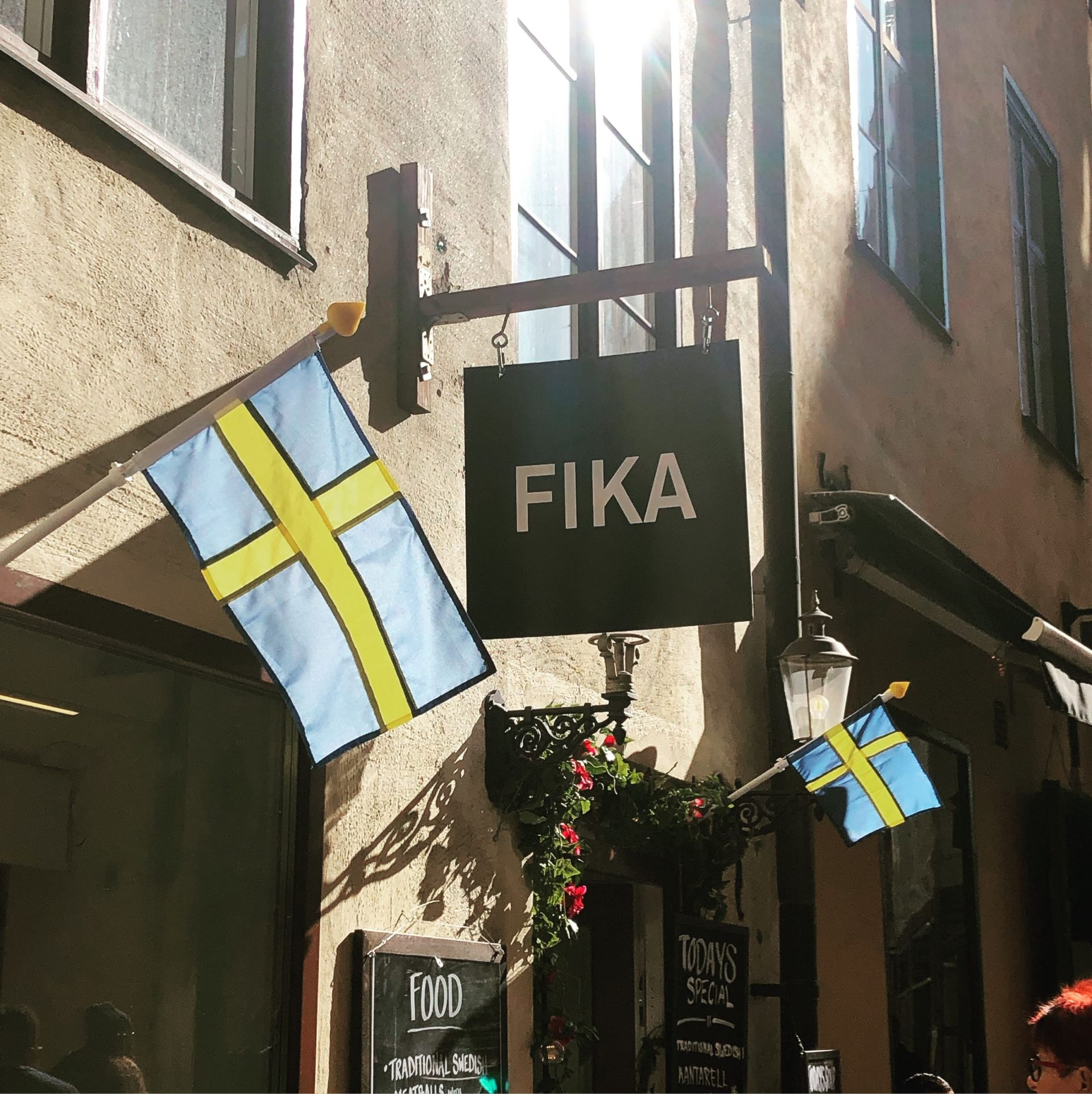 A cafe in central Stockholm called 'Fika'.