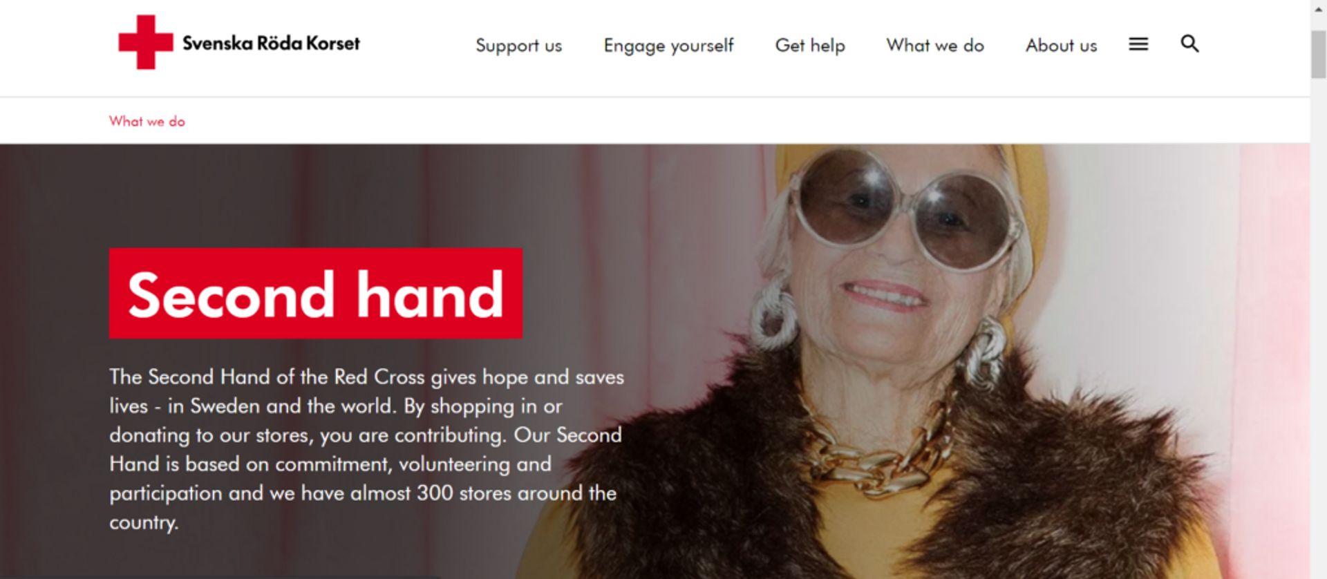 Frontpage of Röda Korset's website.