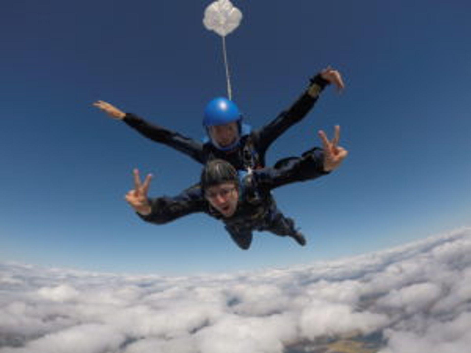 Aleksei skydiving.