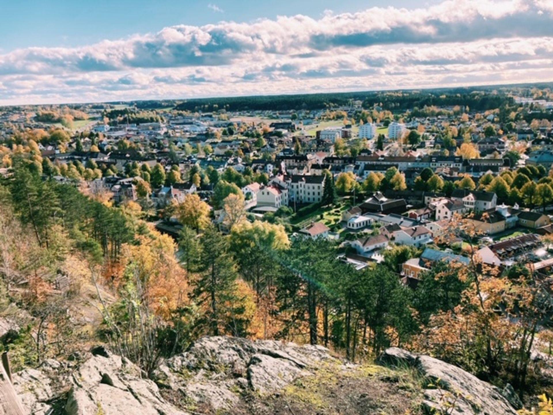 Cliffs overlooking Söderköping.