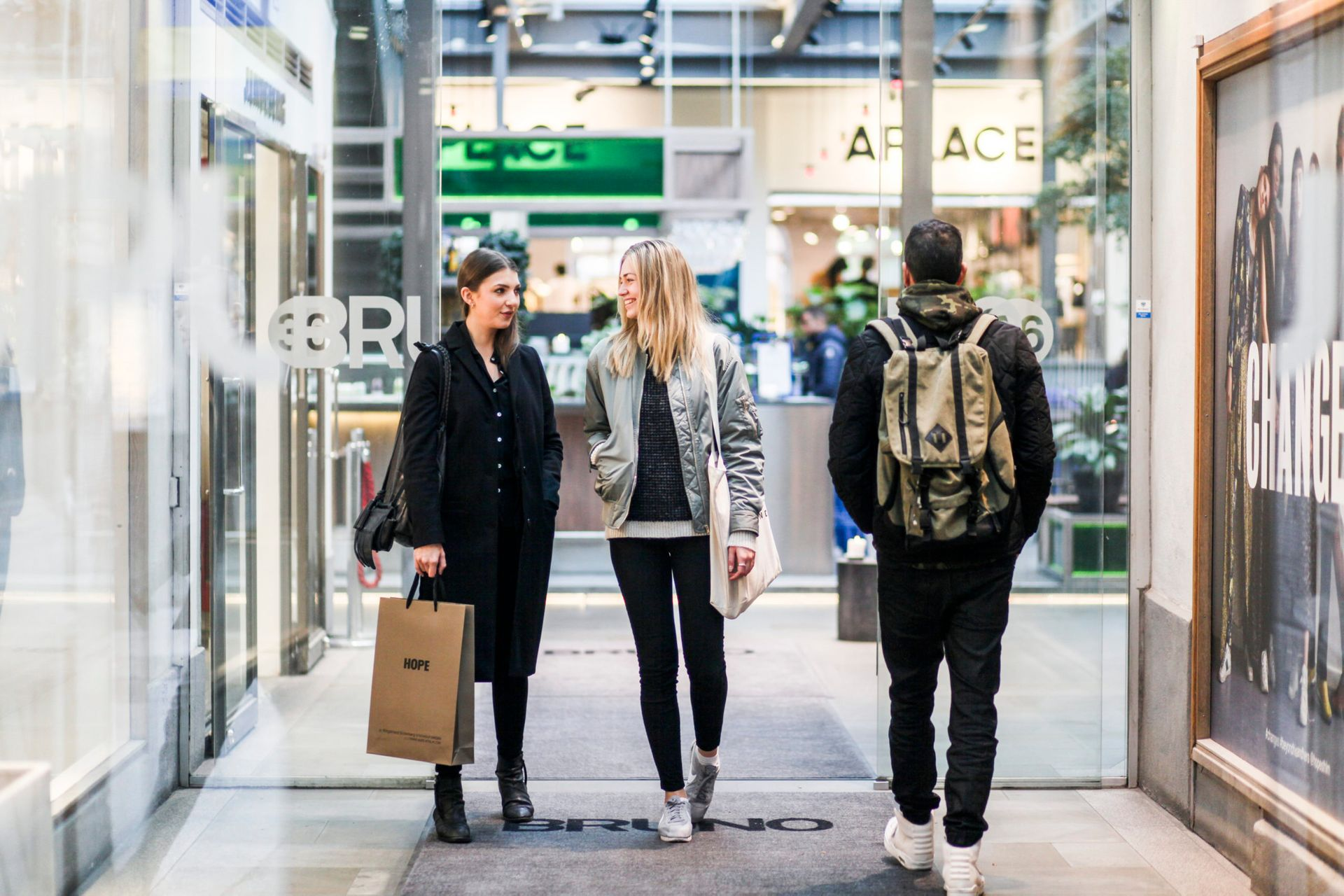 Walking and shopping in stockholm mall