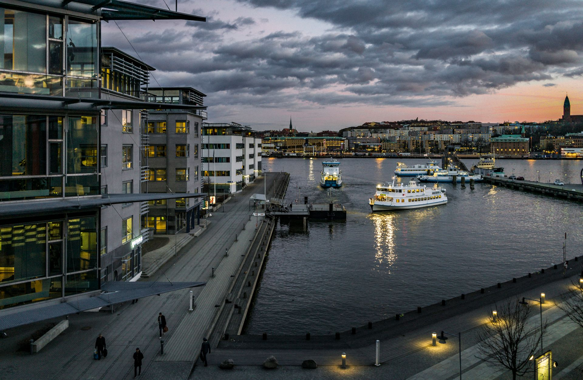 View over the harbour in Gothenburg