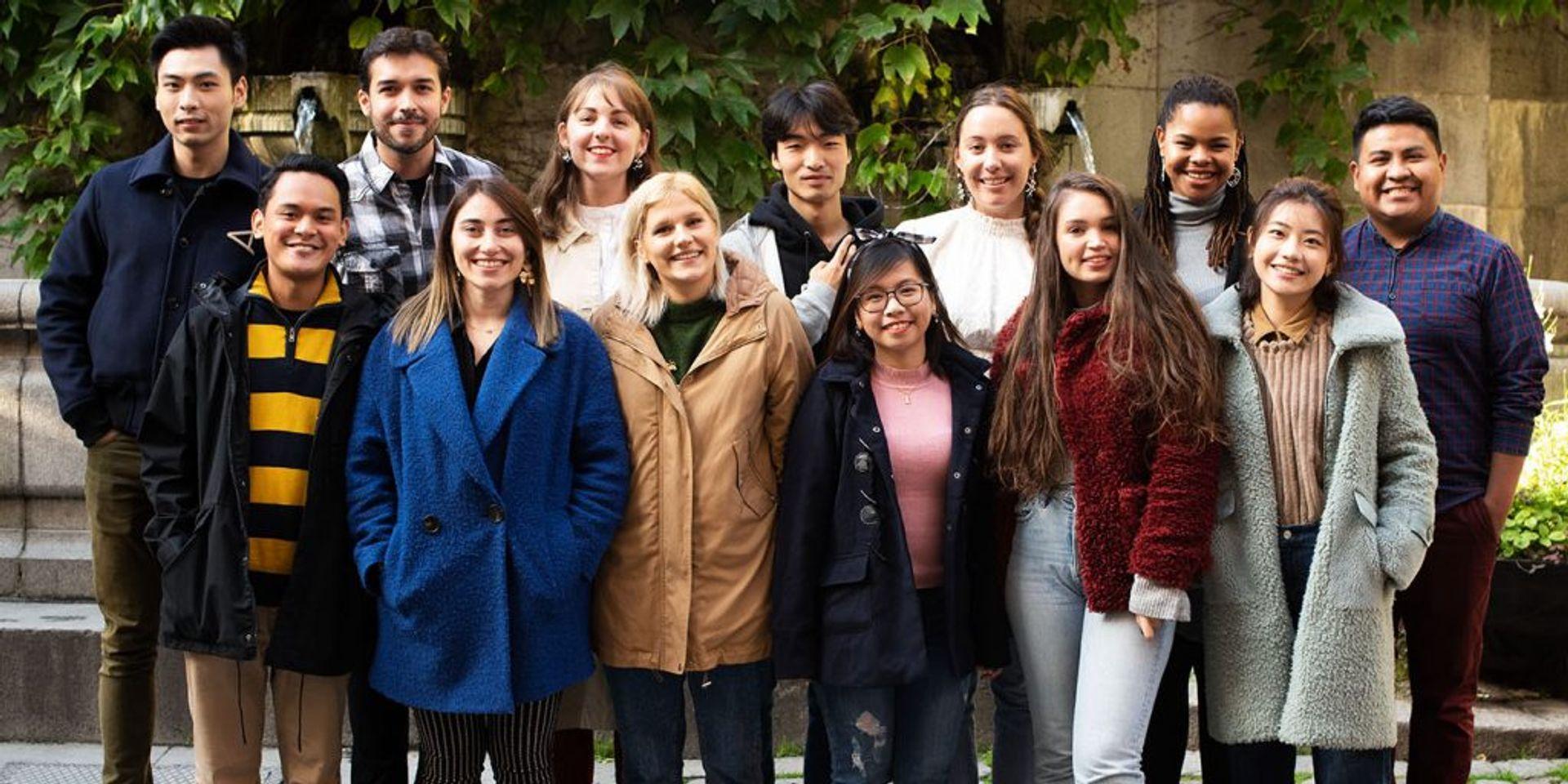 A group of Study in Sweden digital ambassadors