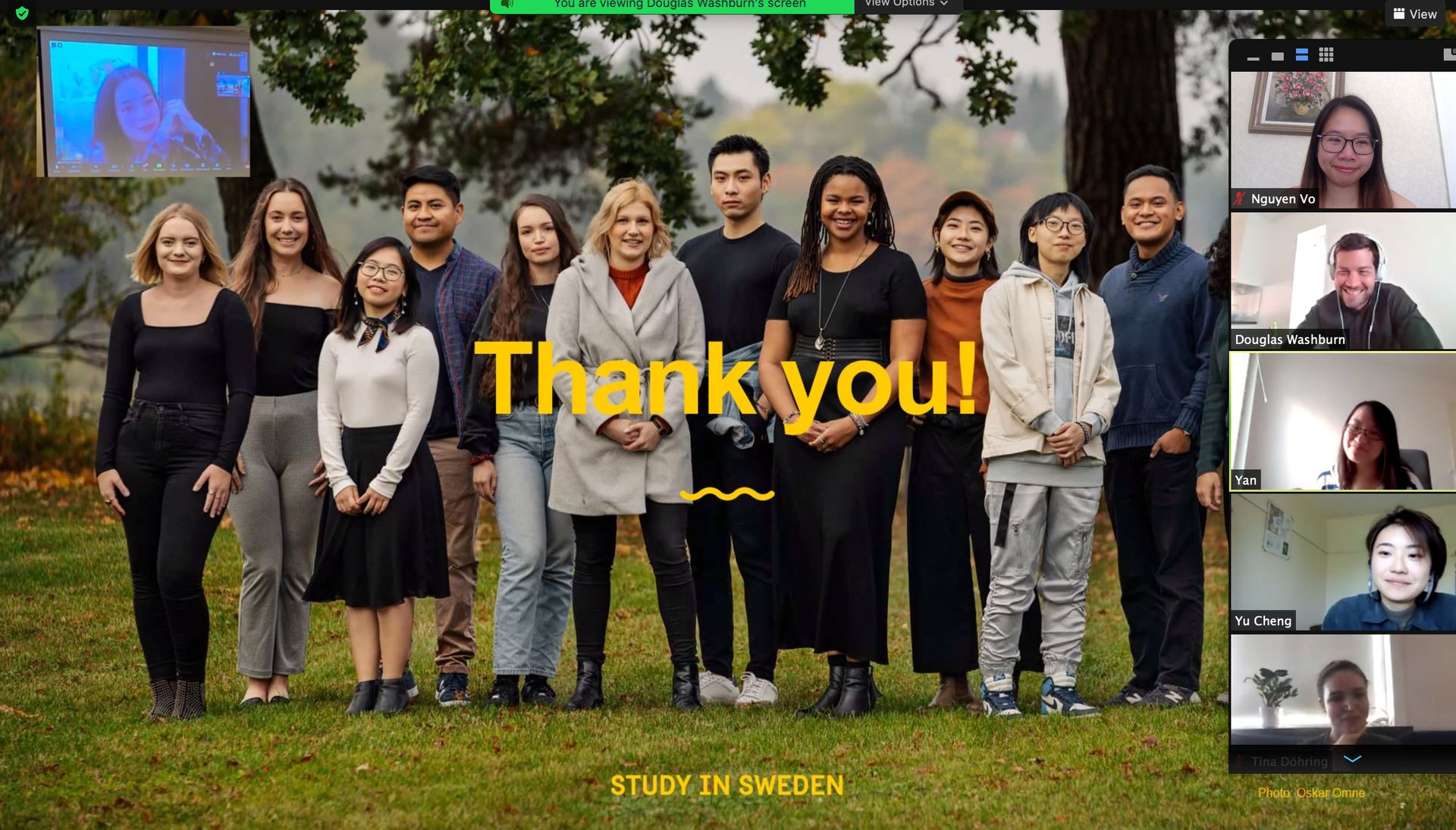Thank you from Study in Sweden ambassadors